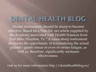 Dental health blog