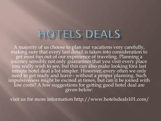 Hotels Deals