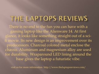 The laptops reviews