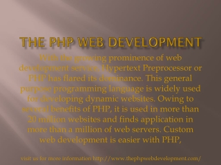 the php web development