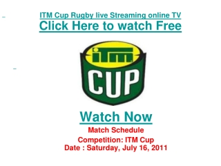 watch taranaki vs wellington itm cup rugby match live stream