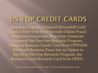 Us top credit cards