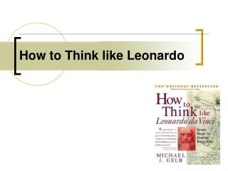How to Think like Leonardo
