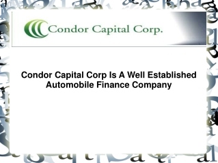 Condor Capital Corp Reviews | Condor Capital Corp