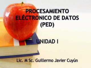 PROCESAMIENTO EL CTRONICO DE DATOS PED