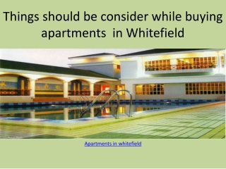villas in whitefield