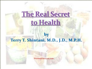 The Real Secret to Health Hawaii Diet Cookbook