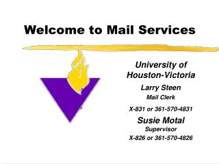 Welcome to Mail Services