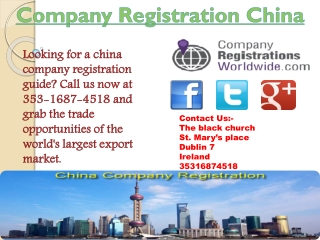 company registration china