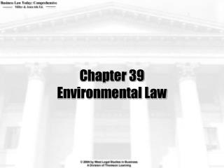 Chapter 39 Environmental Law