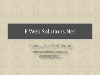Web Design Company Delhi - E-Web-Solutions.Net