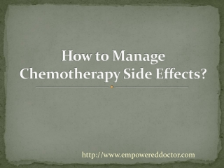 How to Manage Chemotherapy Side Effects?