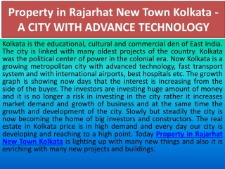 Property in Rajarhat New Town Kolkata