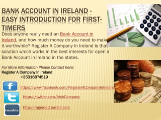 Bank Account in Ireland - Easy Introduction For First-Timers