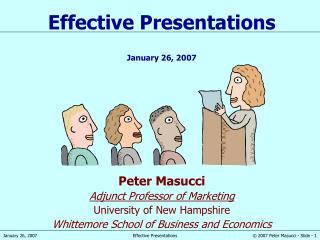 Peter Masucci Adjunct Professor of Marketing University of New Hampshire Whittemore School of Business and Economics