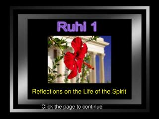 Reflections on the Life of the Spirit