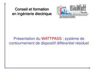Pr sentation du WATTPASS : syst me de contournement de dispositif diff rentiel r siduel