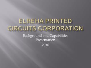 ELREHA Printed Circuits Corp
