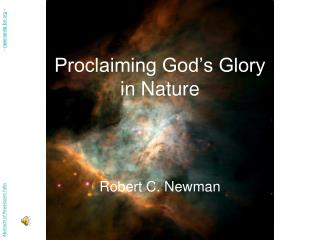 Proclaiming God s Glory in Nature