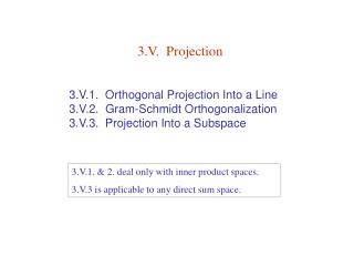 3.V.  Projection