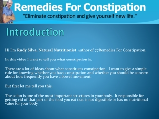 Are you suffering from Constipation?