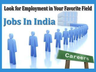 Jobs In India – Look for Employment in Your Favorite Field
