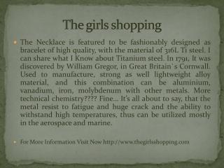 The girls shopping