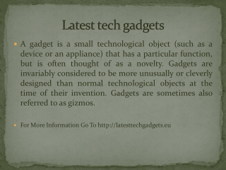 Latest tech gadgets