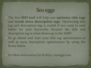 Seo eggs