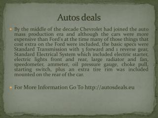 Autos deals