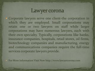 Lawyer corona