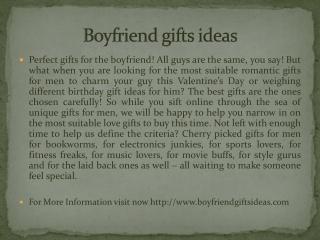 Boyfriend gifts ideas