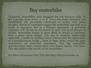 Buy motorbike