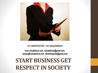 START BUSINESS GET RESPECT IN SOCIETY