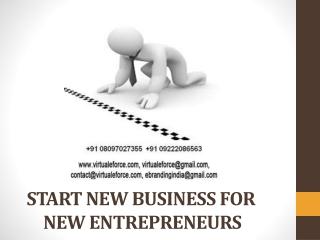 START NEW BUSINESS FOR NEW ENTREPRENEURS