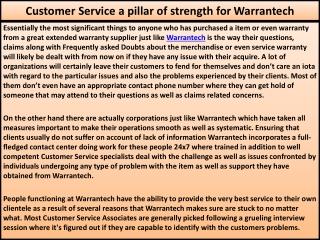 Customer Service a pillar of strength for Warrantech