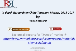Research on China Tantalum Market 2013-2017
