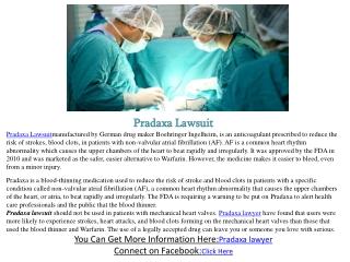 Pradaxa Lawsuit