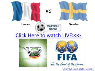 france vs sweden live hd!! third place fifa women's world cu