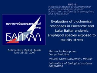 Evaluation of biochemical responses in Palearctic and Lake Baikal endemic amphipod species exposed to toxicity stress