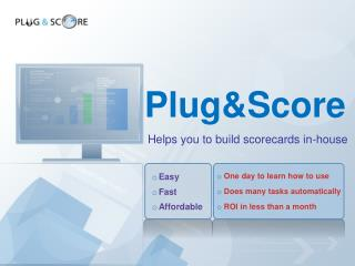 Scorecard development software: visual and easy to learn