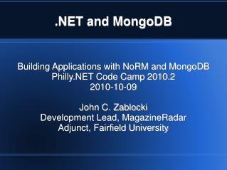 and MongoDB