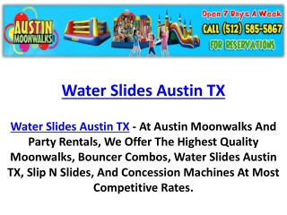 Water Slides Austin TX