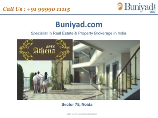 Best Project Apex Athena Noida Call 99990 11115 Buniyad.com