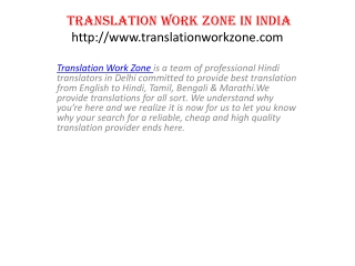 Translation Company in Kolkata