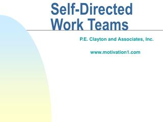 Self-Directed Work Teams