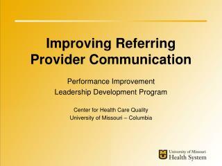 Improving Referring Provider Communication