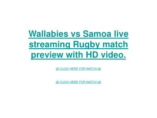 wallabies vs samoa live streaming rugby match preview with h