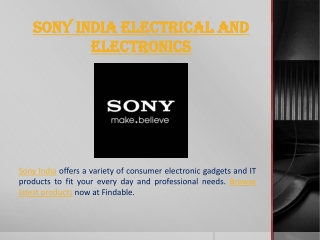 Sony India stores near you to shop Sony TV, Sony Camera, Mob