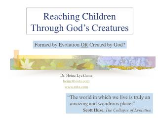 Reaching Children Through God s Creatures